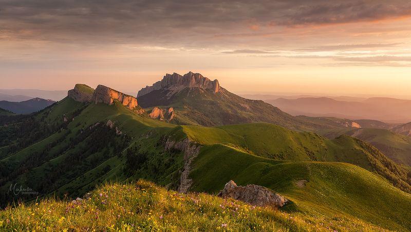 landscape, пейзаж, sunset, адыгея, Большой Тхач. республика Адыгея. июнь 2018.photo preview