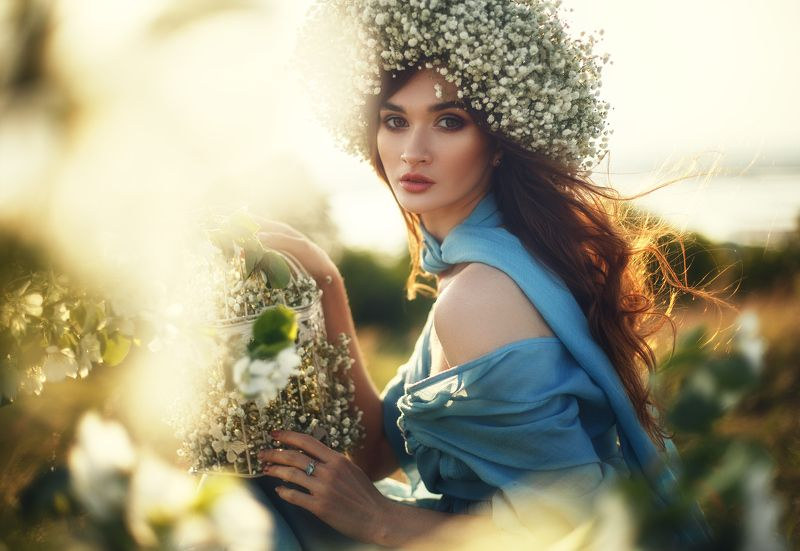 портрет, природа, закат Жаннаphoto preview