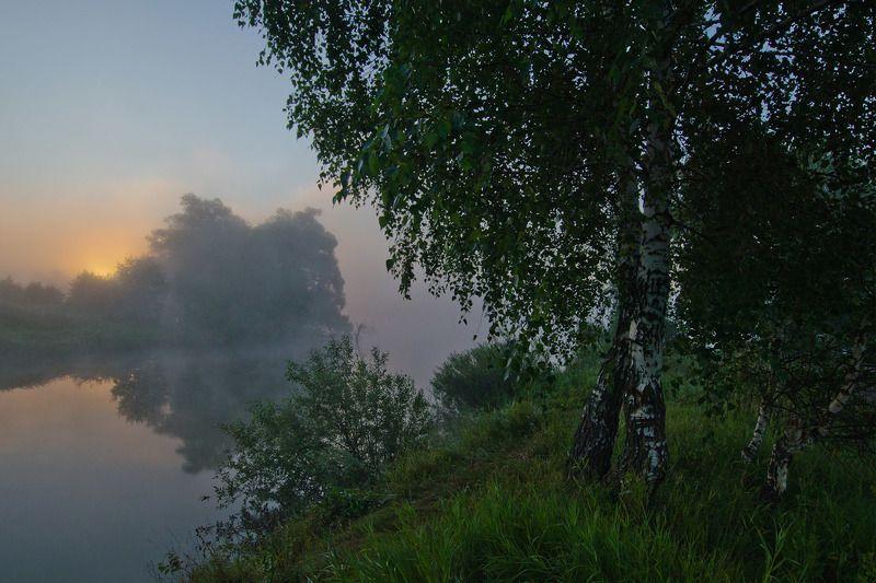 утро рассвет природа пейзаж У берегов манящего рассветаphoto preview