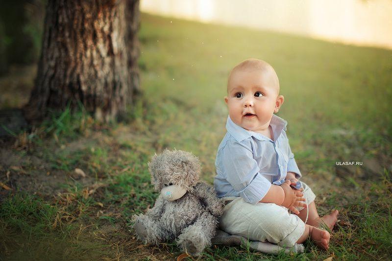 портрет, лето, мальчик, boy, summer, мишка, игрушка, река, river, прогулка, вечер, закат Леонphoto preview