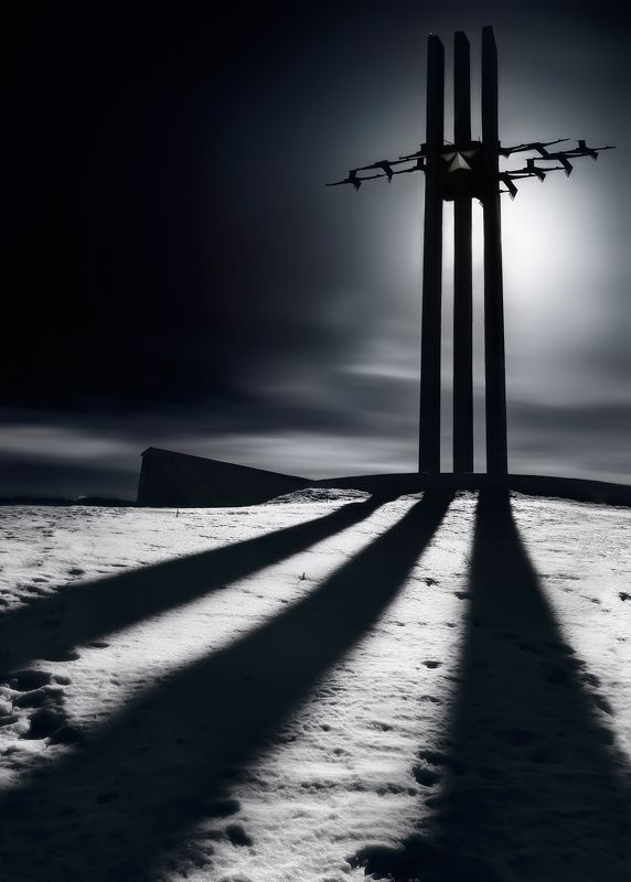 саратов, памятник, монумент, черно-белое Цельнометаллическаяphoto preview
