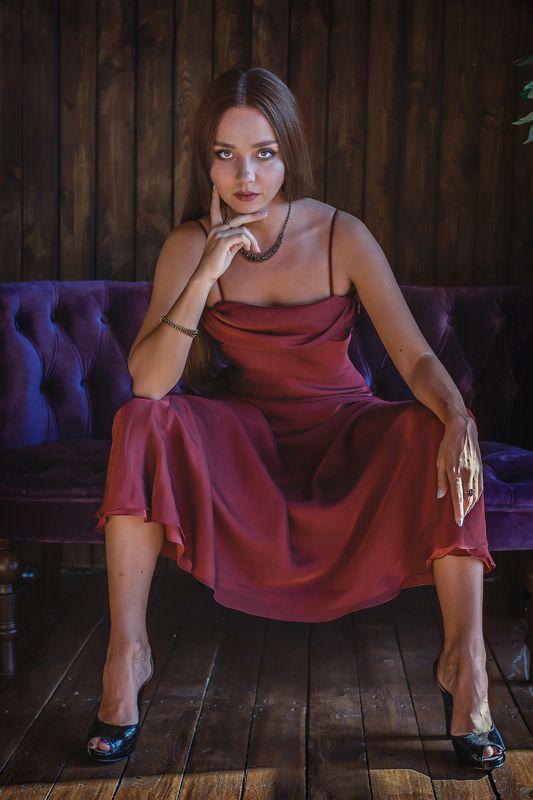 студия, девушка, модель, гламур, портрет Бордоphoto preview