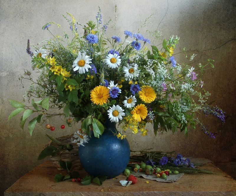 натюрморт, цветы, марина филатова, лето, летний букет цветов. Летоphoto preview