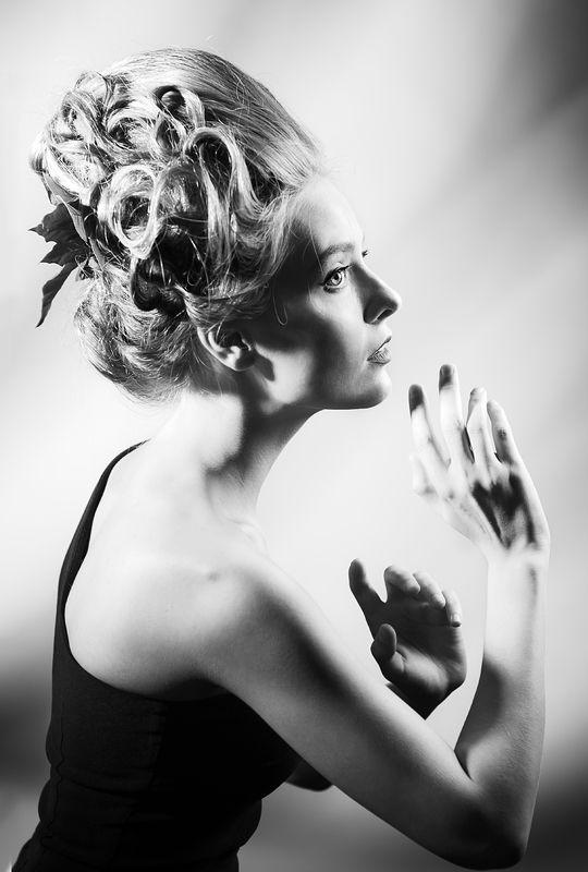 портрет, фотостудия, гламур, причёска, мода, ретро, монохромная, art, davydov, fineart, artwork, beauty, графическая, свето-тень Игра теней, игра воображенья...photo preview