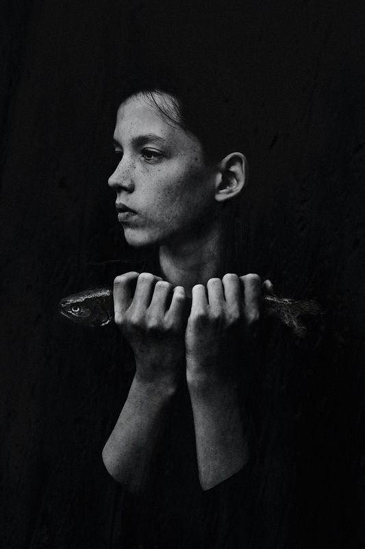 Boy with fishphoto preview