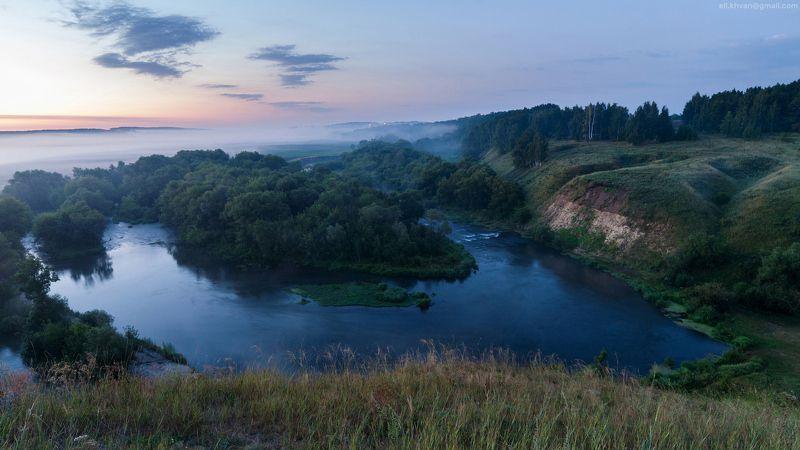 Рассвет на реке Красивая Мечаphoto preview