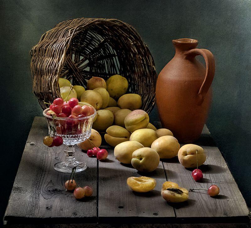 натюрморт, фрукты, still life Абрикосыphoto preview