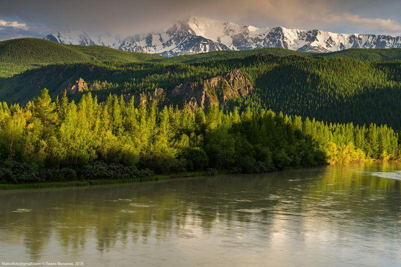алтай, сибирь, чуя, лето, вечер, река, куркурек Чуяphoto preview