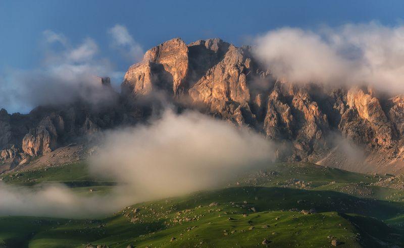 кавказ, северная осетия, дигория Высокогорные ландшафты Дигории.photo preview