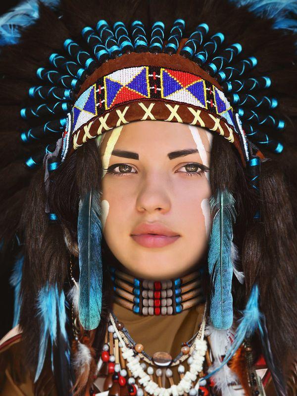 индейцы, девушка ****photo preview
