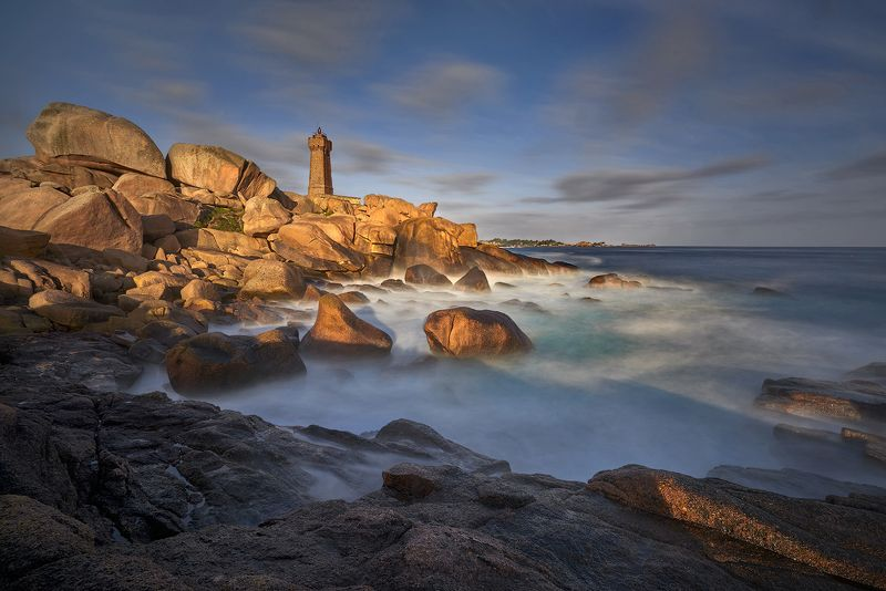 Perros-Guirec, Ploumanach,  rocks, Brittany, France Perros-Guirecphoto preview