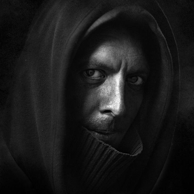 улица лица черно_белое фото портрет Бережёныйphoto preview