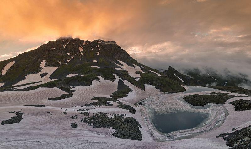 гора, загедан, июнь, 2018, озера, закат, кчр, большая, лаба ЗАКАТ НАД Г.ЗАГЕДАНphoto preview