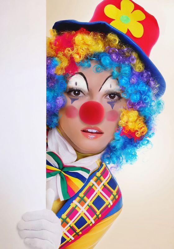 клоун, девушка, портрет *****photo preview