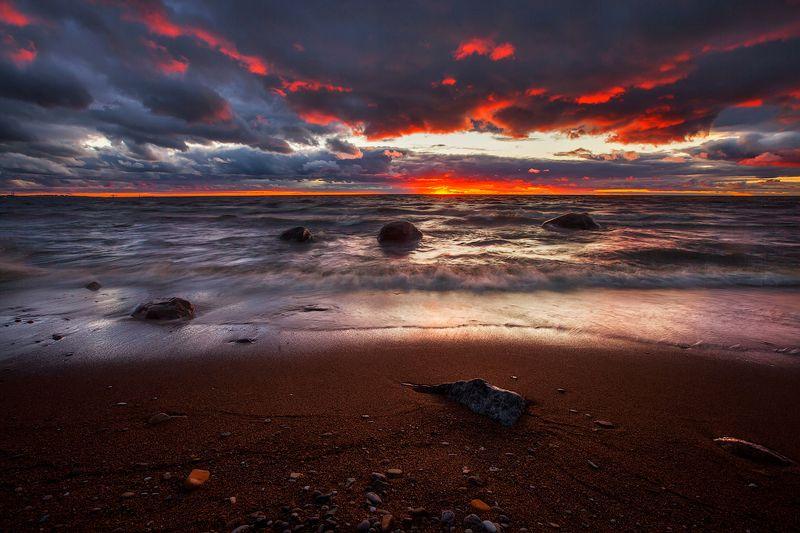 лето, пейзаж, море Июньские закатыphoto preview