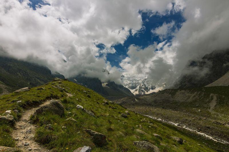 горы, облака, кавказ взгляни на небо, посмотри, как плывут облака...photo preview