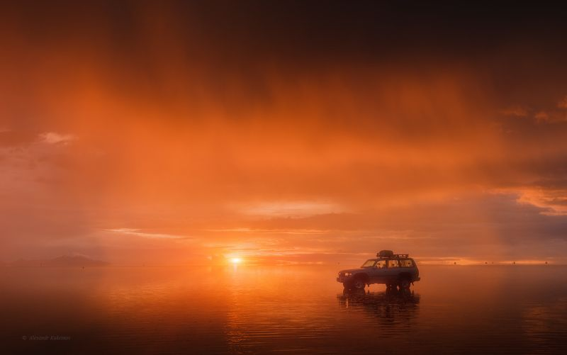 боливия, уюни, пейзаж, трэвел, travel, uyuni, bolivia Вечерний пожар на Uyuni...photo preview