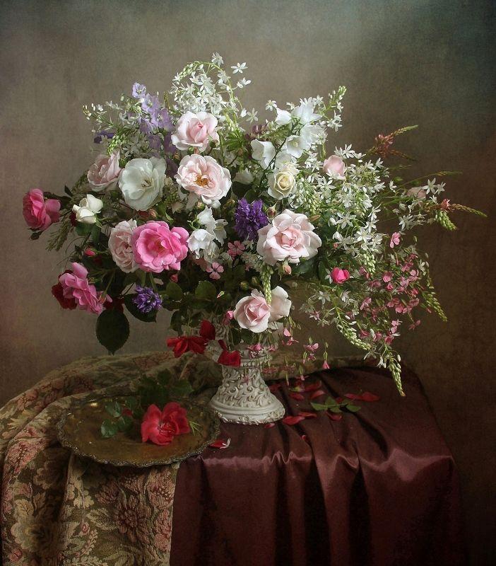 натюрморт, цветы, марина филатова, лето Благоуханье  нежных ароматовphoto preview