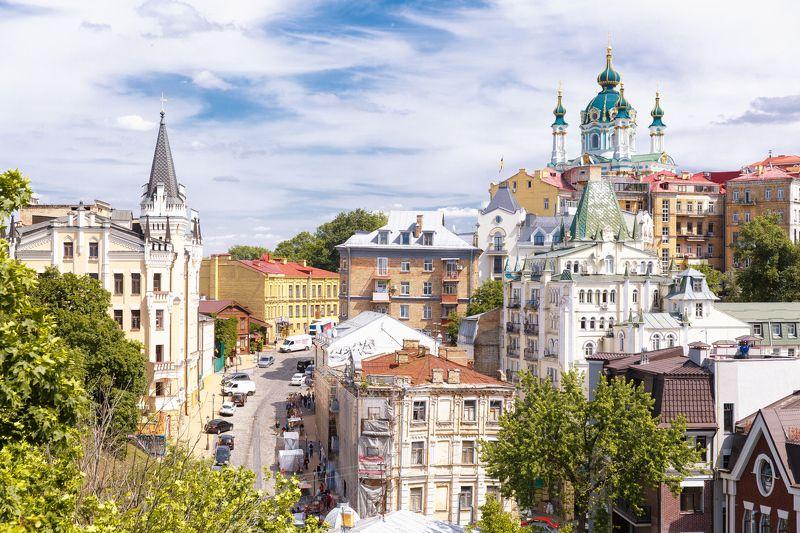 kyiv Kiev ukraine town old city church Old Kyivphoto preview