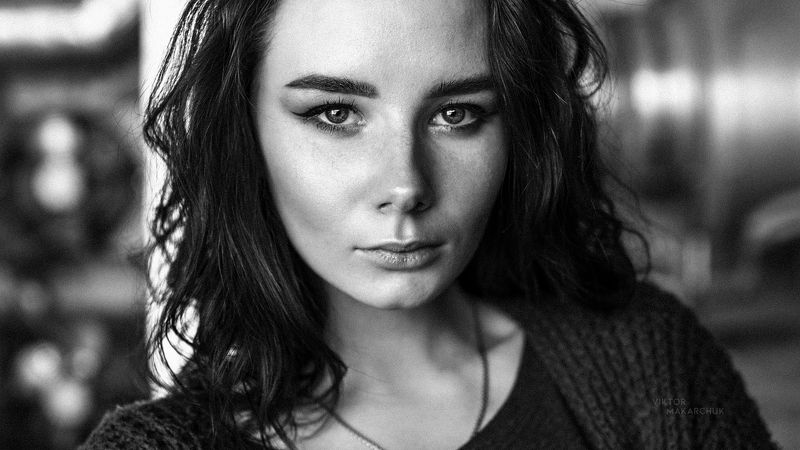 portrait, model, eyes, look, light, fashion, beauty, face, model, bw, black and white * * *photo preview