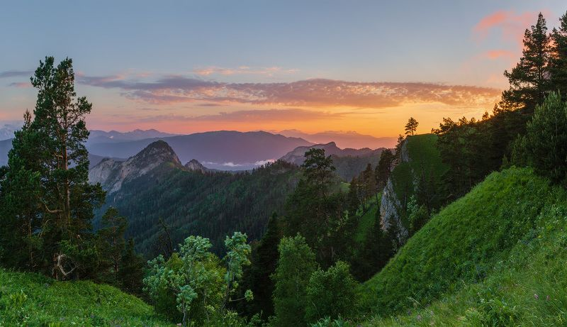 западный кавказ афонка закат тхачи июнь Закат с видом на Афонкуphoto preview