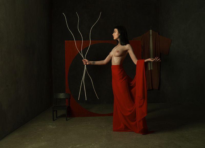 fine art nudes Красный лебедь.photo preview