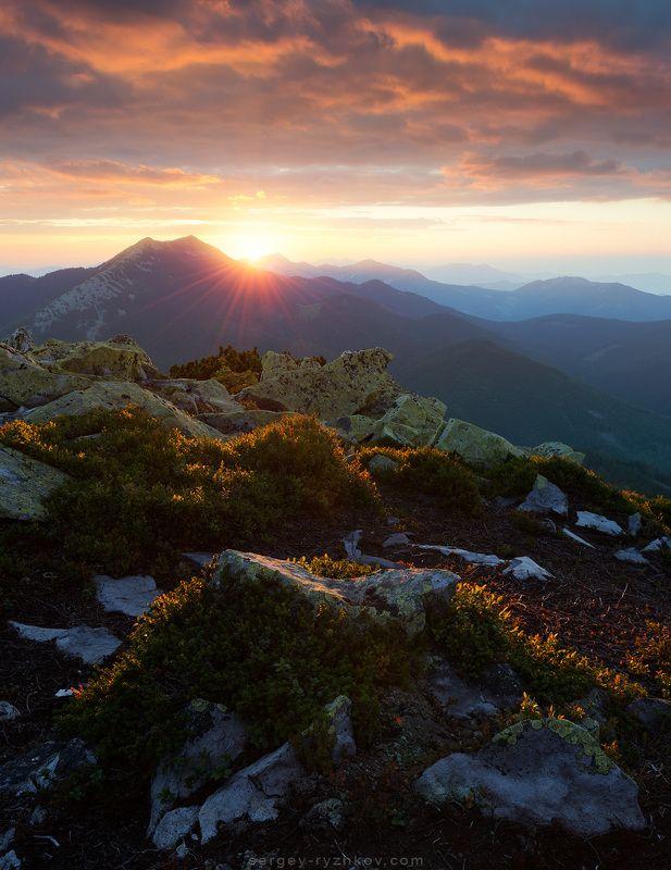 карпаты, украина, горы, природа, пейзаж Горганыphoto preview