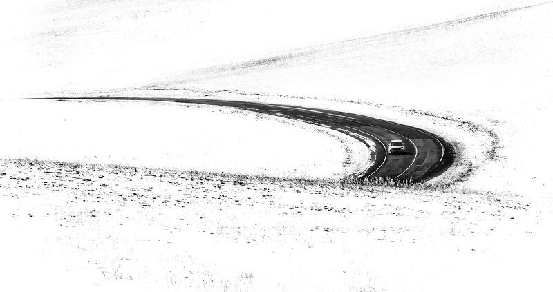 февраль, забайкалье, сопки, дорога По диким степям Забайкалья....photo preview