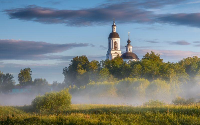 филипповское, рассвет, село, владимирская область, утро, туман Филипповскоеphoto preview