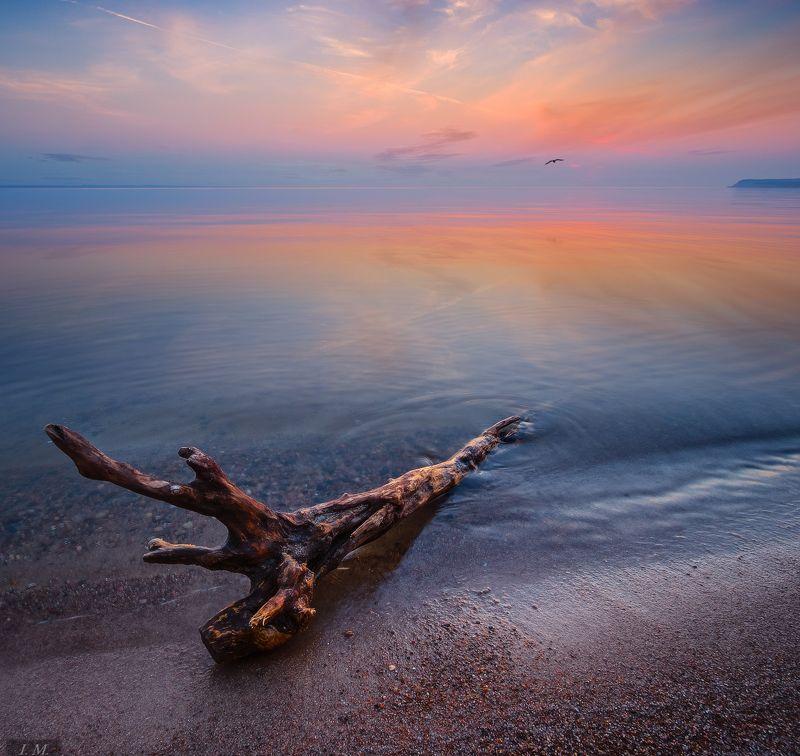 море, закат, покой, берег, вечер, sea, coast, evening, water, rest The edge of restphoto preview