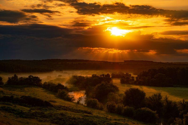 фото, закат, пейзаж, природа, лето Небесное золотоphoto preview