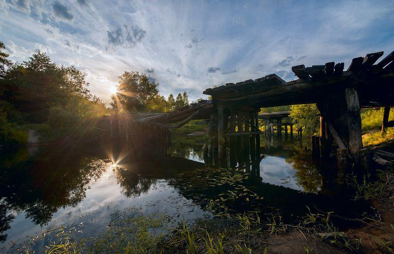 старый мост, развалины, река, лес, мещёра, рязанская область Pro уходящую красоту...photo preview