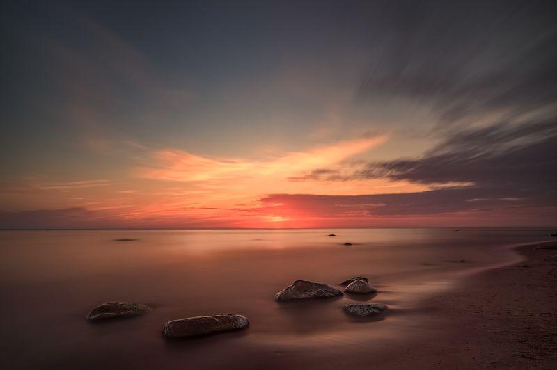 lithuania,long exposure,stones,sea,baltic sea,sunset,beatch,evening,landscape dutch hatphoto preview