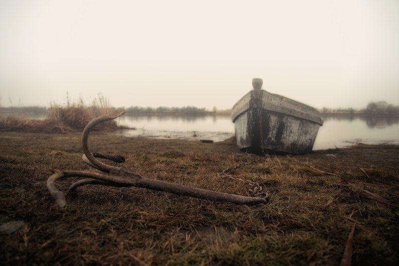 осень лодка река дон туман дождь autumn boat oldboat don river fog rain Причалили.photo preview
