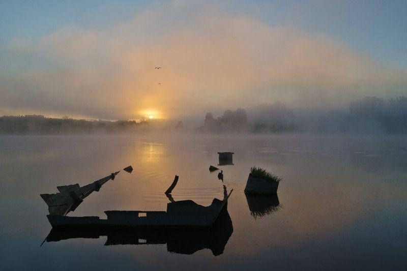 утро, рассвет, пейзаж, природа, лето Рассвет на Фёдоровском прудуphoto preview