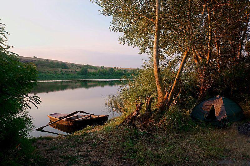 пейзаж,утро,рассвет,природа, Рассвет у реки.photo preview
