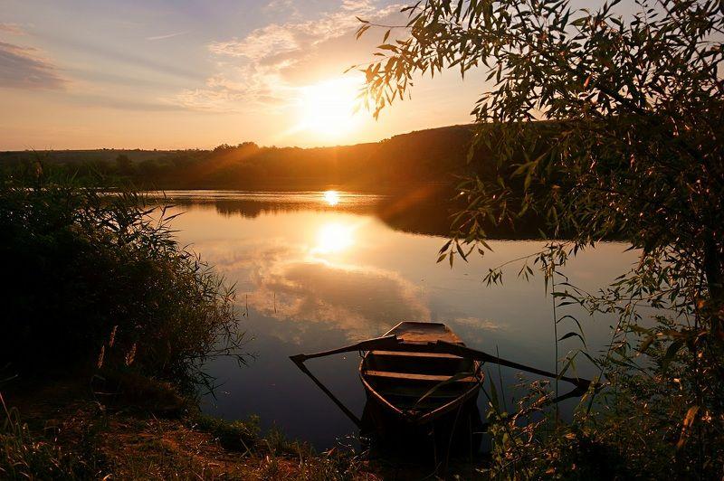 рассвет,пейзаж,картина, Утро у реки.photo preview