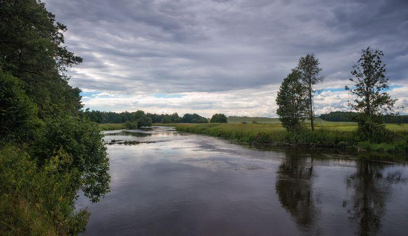 лето, река, небо, Ненастный денекphoto preview