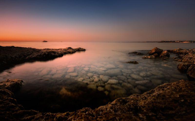 крым, черное море, природа, море, лето, вечер, закат, свет Вечерело, Херсонессphoto preview