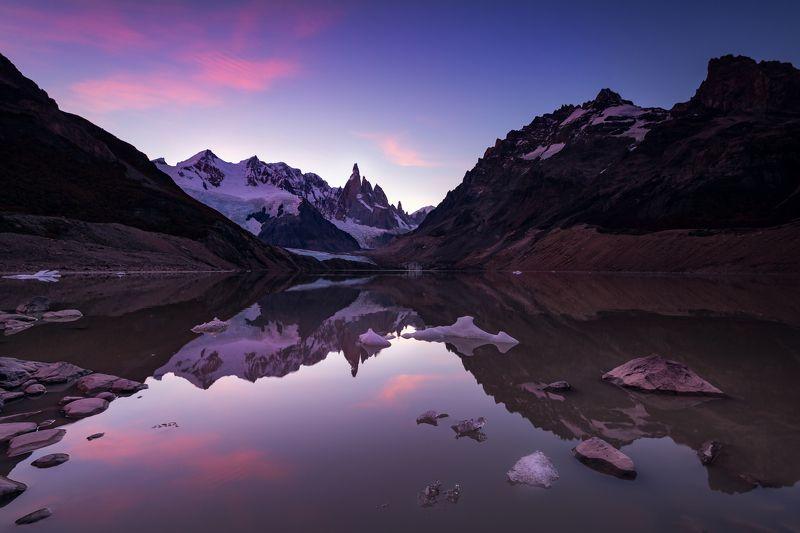 пейзаж отражение патагония аргентина путешествие туризм трэвел Вечернее безмолвиеphoto preview