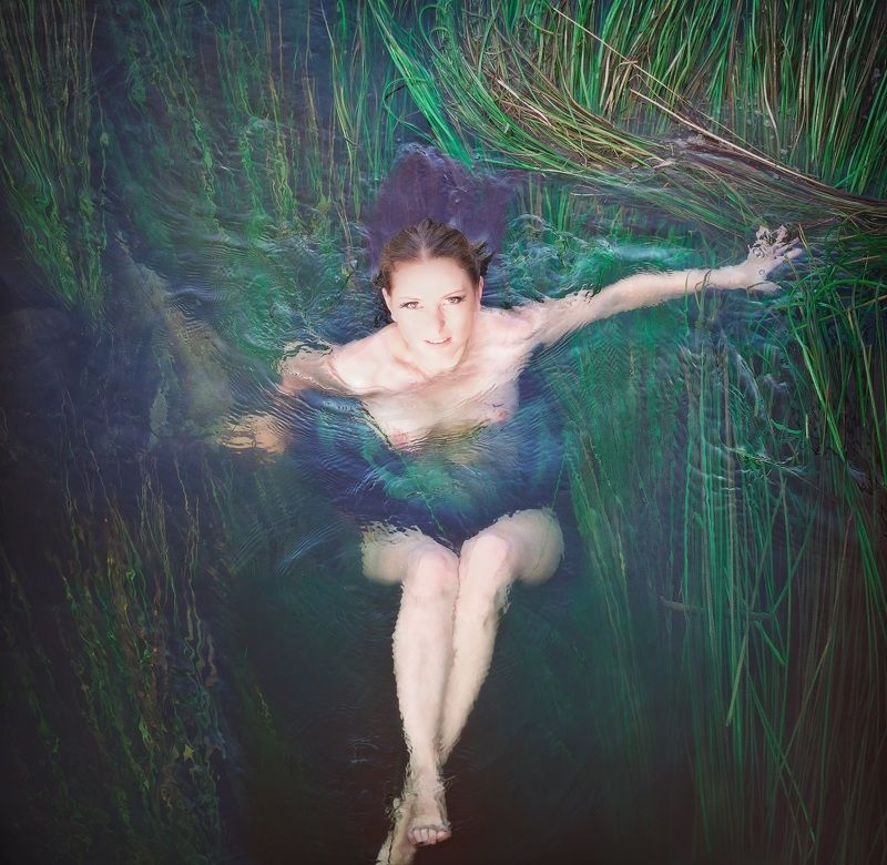 пленэр, ню, девушка, модель, река Речная нимфаphoto preview