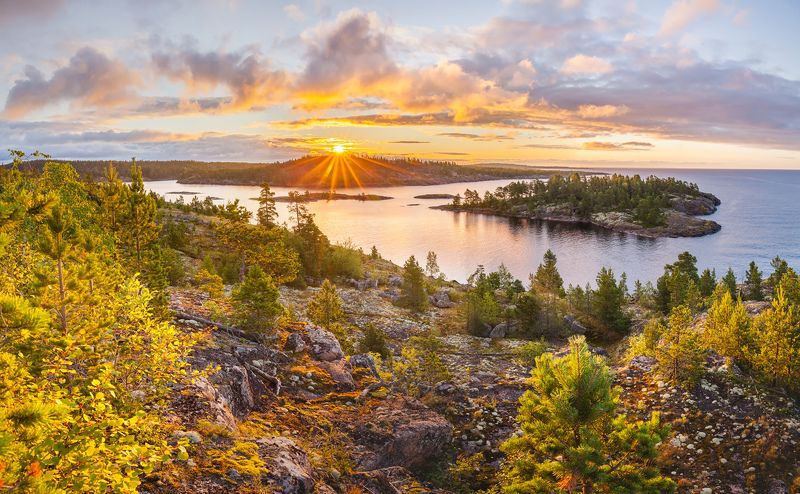 ладога, ладожское озеро, ладожские шхеры, карелия, восход, лето, фототур \