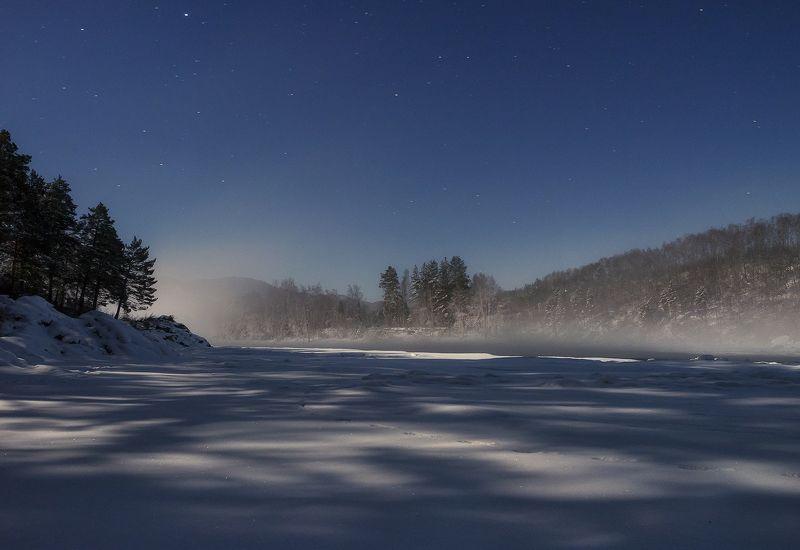 ...Лунная ночь на реке Катунь...photo preview