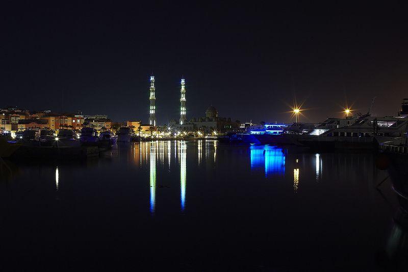 night, marina, mosque Ночной портphoto preview