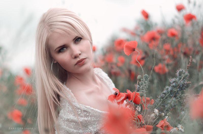 veronika,zanfoar.czech republic,bohemia,nikon d7000,portrait,девушка, портрет, модель, мак, красный, длинные волосы, блондинка, природа, V e r o n i k a ..photo preview