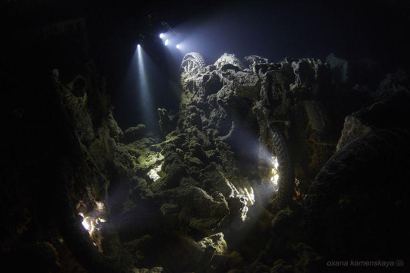 wreck thistlegorm underwater ship inside light flash SS Thistlegorm #1. Верхний трюм.photo preview