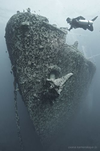 SS Thistlegorm #2. Нос корабля.