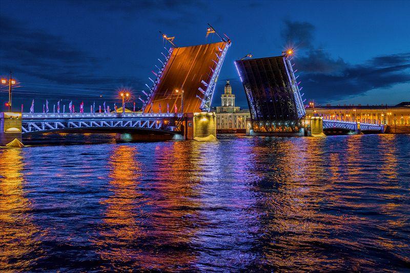 питер мост развод ночь urban город архитектура пейзаж  Развод мостовphoto preview