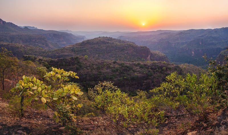 сатпура, индия, мадхья-прадешь, национальный парк, горы \