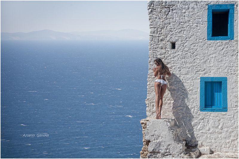 маяк. море . девушка на маяке. Смотрительница маяка...photo preview